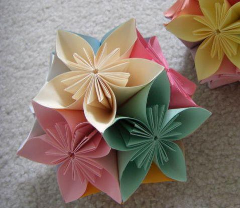 クリスマス 折り紙 折り紙で作る花 : snalime.com