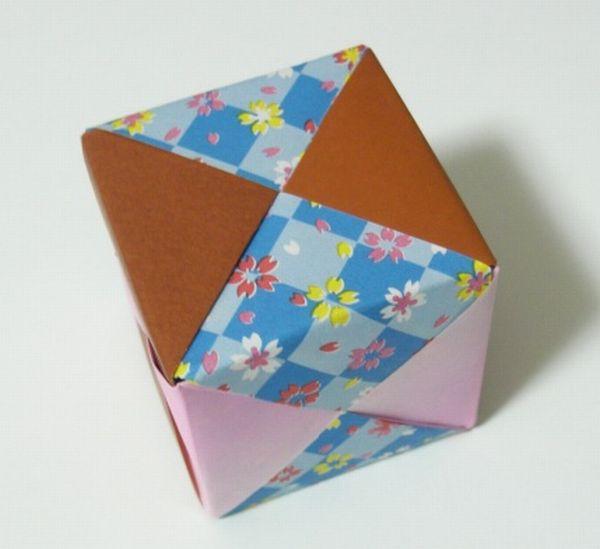 すべての折り紙 折り紙 くす玉 ユニット : ユニット作りを含め約30分で ...