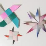 折り紙4枚と8枚で作る手裏剣3種【かっこいい手裏剣・八方手裏剣・四色手裏剣】