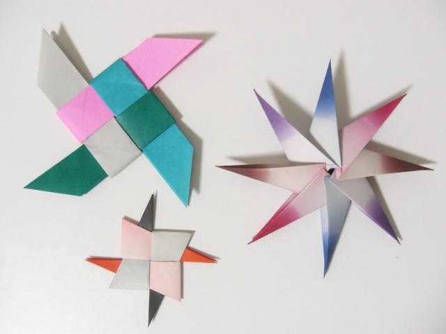 ハート 折り紙:手裏剣 折り紙 8枚-snalime.com