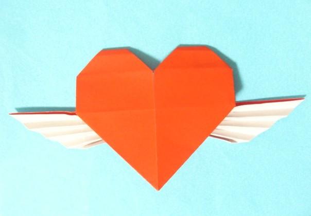ハート 折り紙 ハート 折り紙 立体 : 出来上がりのハートのサイズは ...