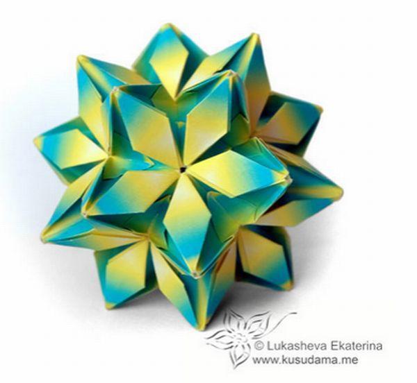 折り紙の 折り紙のくす玉 : snalime.com