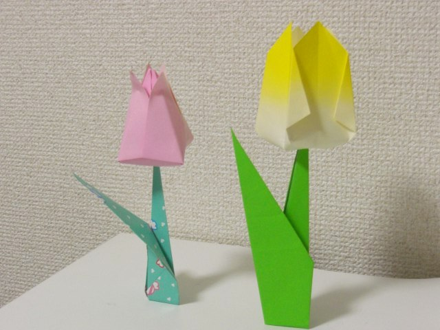 ハート 折り紙 折り紙 花 簡単 チューリップ : snalime.com