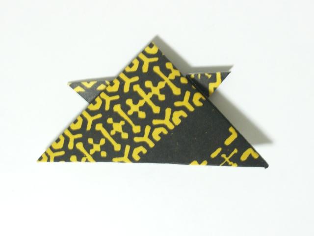 ... 折り紙なら底辺が約11cmになる : 折り紙 箸入れ : 折り紙